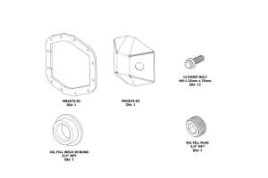Motobilt DIY Rubicon Front DIFF Cover M210  - JT/JL
