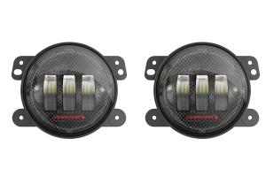 JW Speaker 6145 J2 LED Carbon Fiber 4in LED Fog Light Kit (Part Number: )