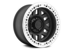 KMC Wheels KM229 Machete Crawl Beadlock Satin Black Machined Wheel, 17X9 8x170
