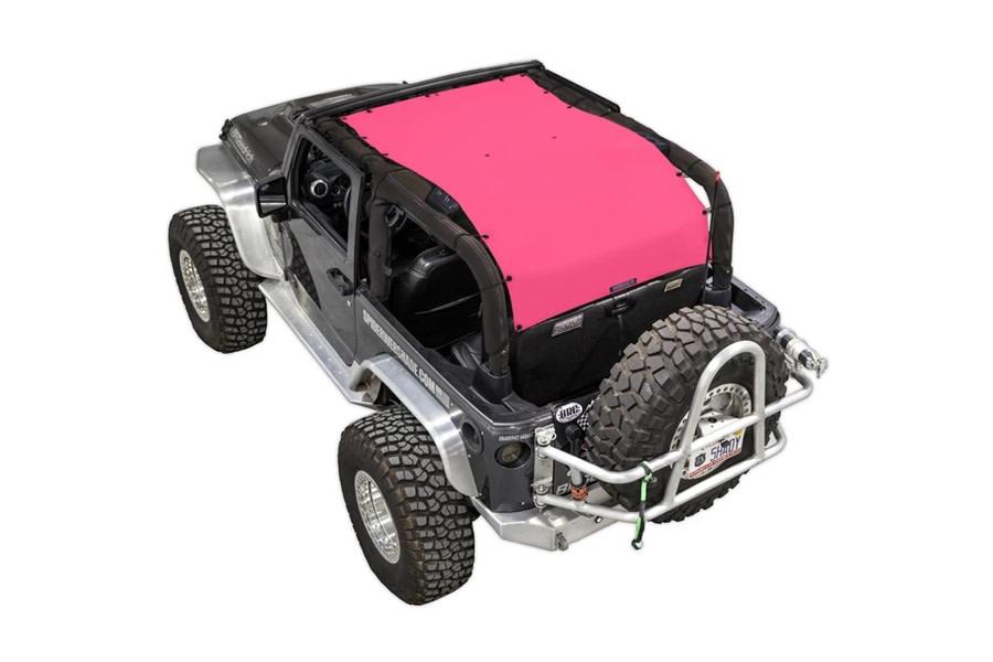 SpiderWebShade Long Shade Top - Pink - JK 2Dr
