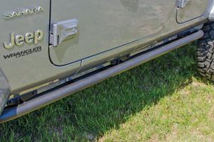N-FAB RKR Rails Full Length, Textured Black - JL 4DR