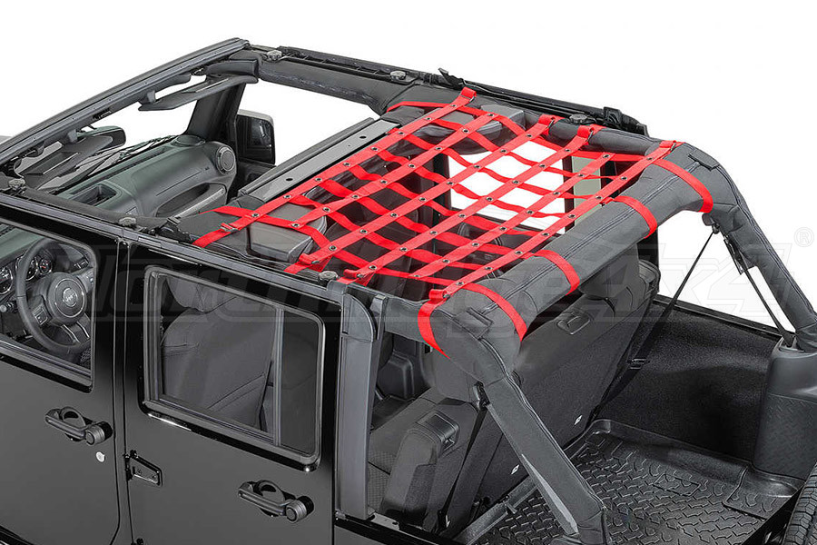Dirty Dog 4x4 Rear Seat Netting Red (Part Number:J4NN07M1RD)