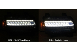 Quake LED Smoked LED Fender Light - w/Sequential Turn Signals - JT/JL