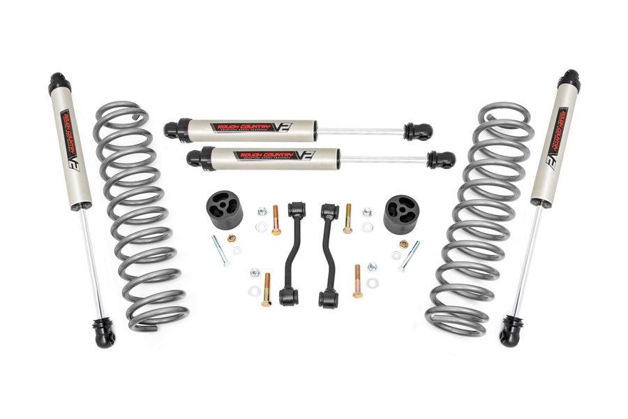 Rough Country 2.5in Suspension Lift Kit w/ V2 Shocks    - JT