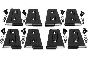 Kentrol 8-Pieces Door Hinge Set - Powdercoat Black  - JK 4Dr