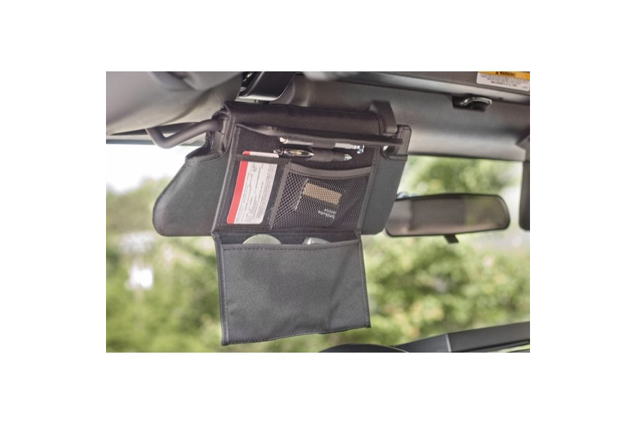 Rugged Ridge Sun Visor Organizers Black  (Part Number:13305.07)