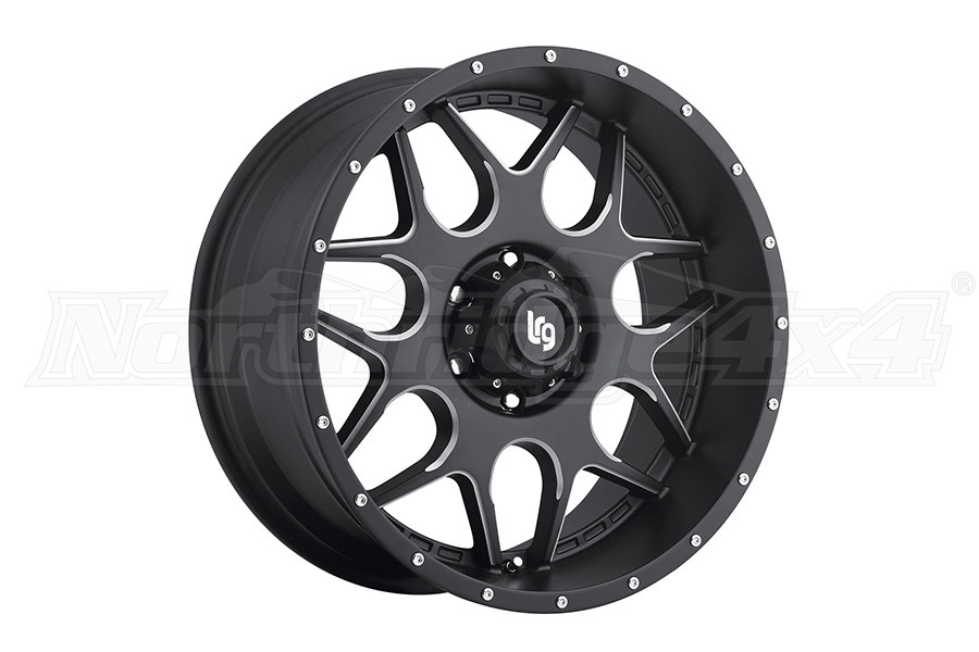 Pro Comp LRG Rims LRG104 Splits Series Satin Black 20x9 5x5 (Part Number:10429073900)