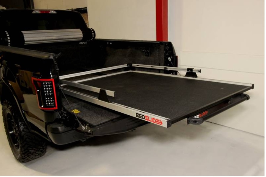 BedSlide 1500 Contractor Cargo Slide System, 95in x 48in - Silver - Toyota Tundra 2007+ / Ram 1981+ 1500/2500/3500  w/ 8ft Bed