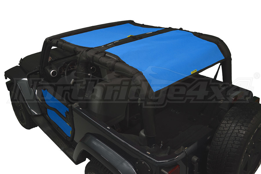 Dirty Dog 4x4 Sun Screen Rear Only Blue (Part Number:J2SS07R1BL)