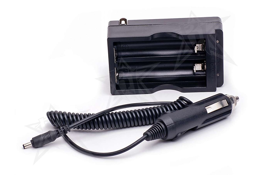 AC/DC Charger For Dual 18650 Li-Ion Batteries
