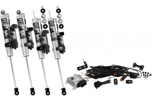 Fox 2.0 Performance Series Adjustable iQS Reservoir Shocks, Front and Rear - 2.5in-4in Lift - JK