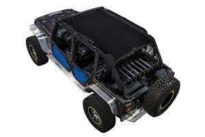 SpiderWebShade Front and Rear Rancho Rock Gear Tube Door ShadeSkins - Blue - JK 4Dr