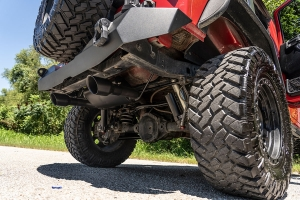Rough Country Dual Outlet Performance Exhaust System - Black  - JK 3.6L and 3.8L Only