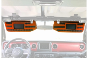 Bartact Visor Covers w/ PALS Webbing for MOLLE Attachments, Pair - Orange - JL - for Visors w/ Mirrors