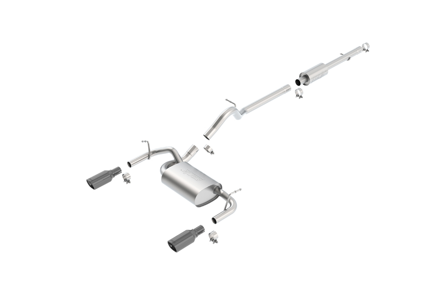 Borla Performance Touring Dual Cat-Back Exhaust System w/Black Tip - JK 4dr 2012+