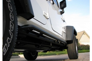 N-Fab RKR Step System Rock Rails, Textured Black - JK 4dr