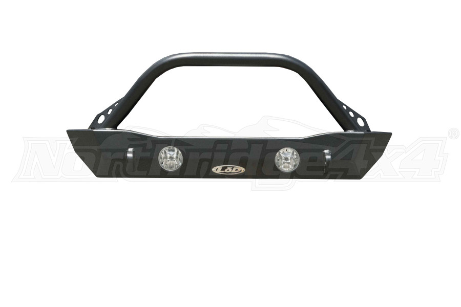 LOD Destroyer Shorty Front Bumper w Bull Bar, Black Powder Coated  - JT/JL
