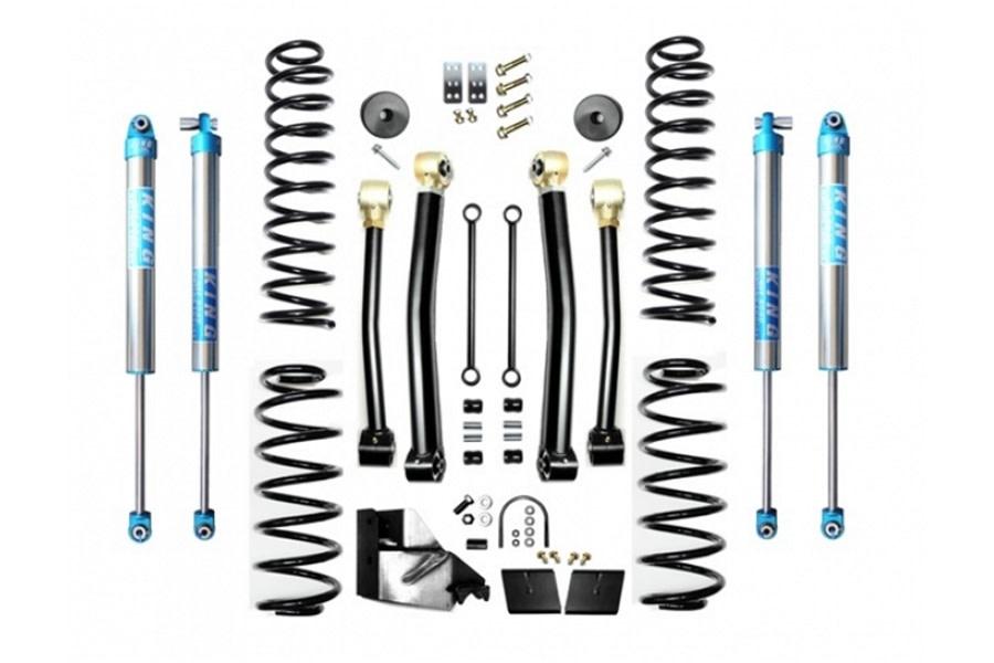 Evo Manufacturing 4.5in Enforcer Stage 3 Lift Kit w/ King 2.0 Shocks - JL Diesel