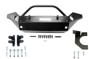Rock Hard 4x4 Front Bumper w/ Vacuum Pump Relocation and Tow Bar Brackets - JK