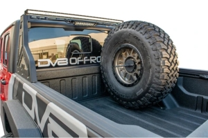 DV8 Offroad Tire Carrier Universal Stand Up In Bed - JT