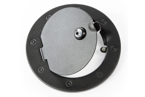 Rugged Ridge Locking Gas Cap Door, Textured Black (Part Number: )