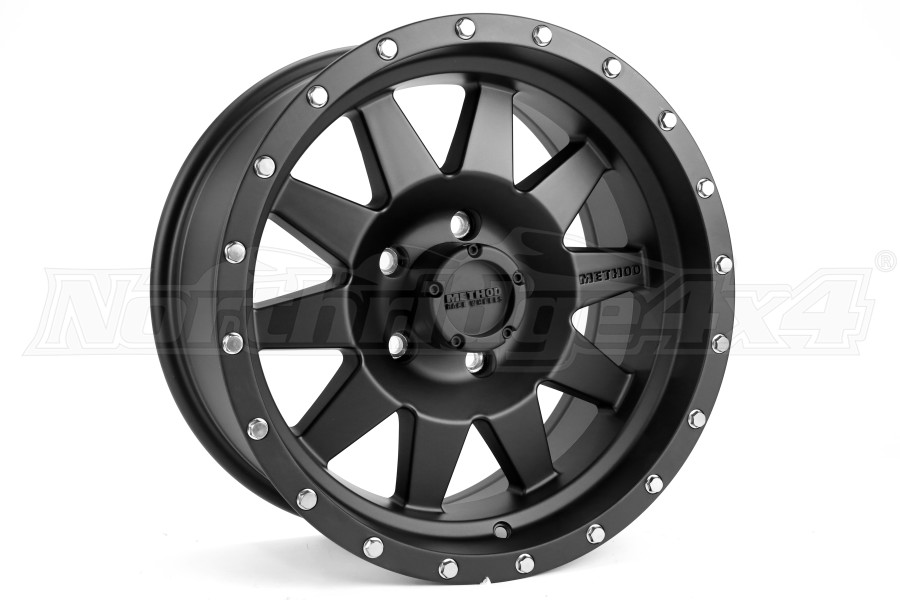 Method Race Wheels Standard Series Wheel Matte Black 17x8.5 5x5 - JT/JL/JK