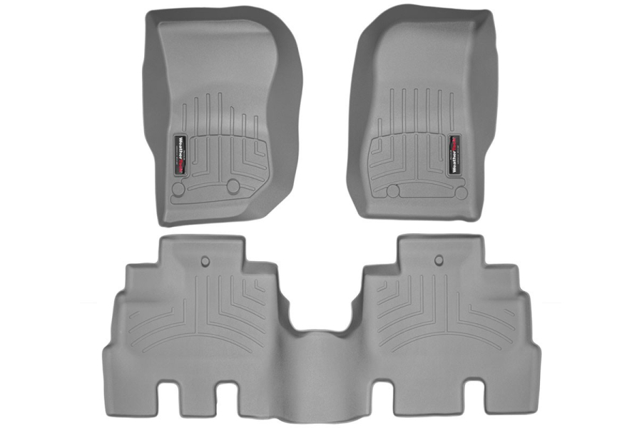 WeatherTech Front and Rear Floor Liner Grey Package - JK 4dr (Part Number:46573-1-2)