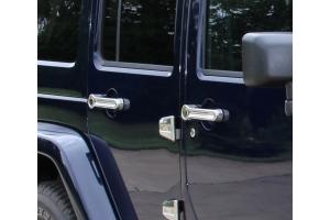 Kentrol 10-Pieces Exterior Door Handle Covers - Polished Silver  - JK