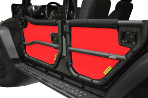 Dirty Dog 4x4 Rugged Ridge Tube Door Screens Red (Part Number: )