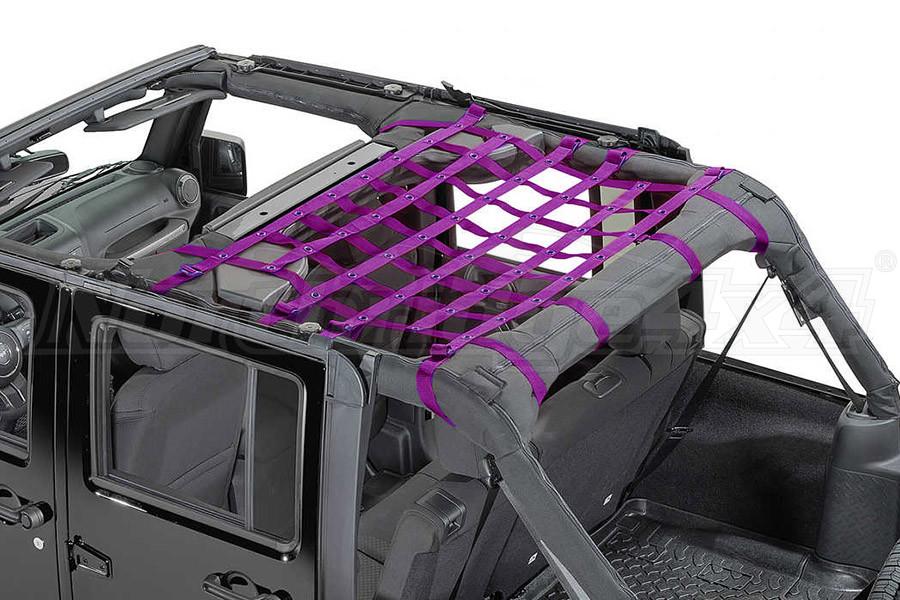 Dirty Dog 4x4 Rear Seat Netting Purple  (Part Number:J4NN07M1PR)