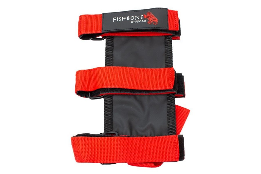 Fishbone Offroad 2.5-3lbs Fire Extinguisher Holder - Red