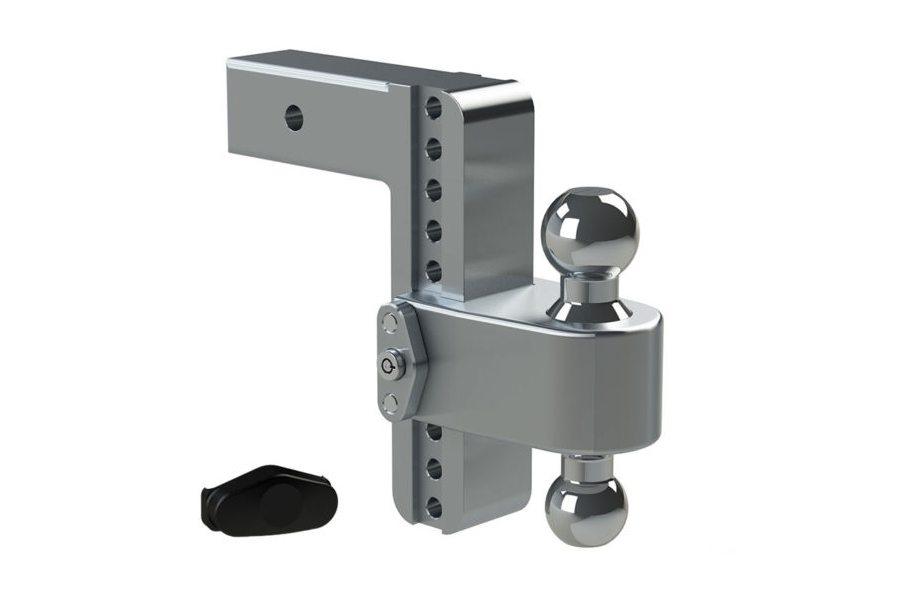 Weigh Safe 180degree Turnover Ball 8in Drop Hitch w/ 2.5in Shaft (Part Number:LTB8-2.5)