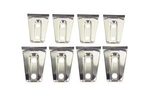Kentrol 8-Pieces Door Hinge Overlays - Polished Silver  - JK 4Dr