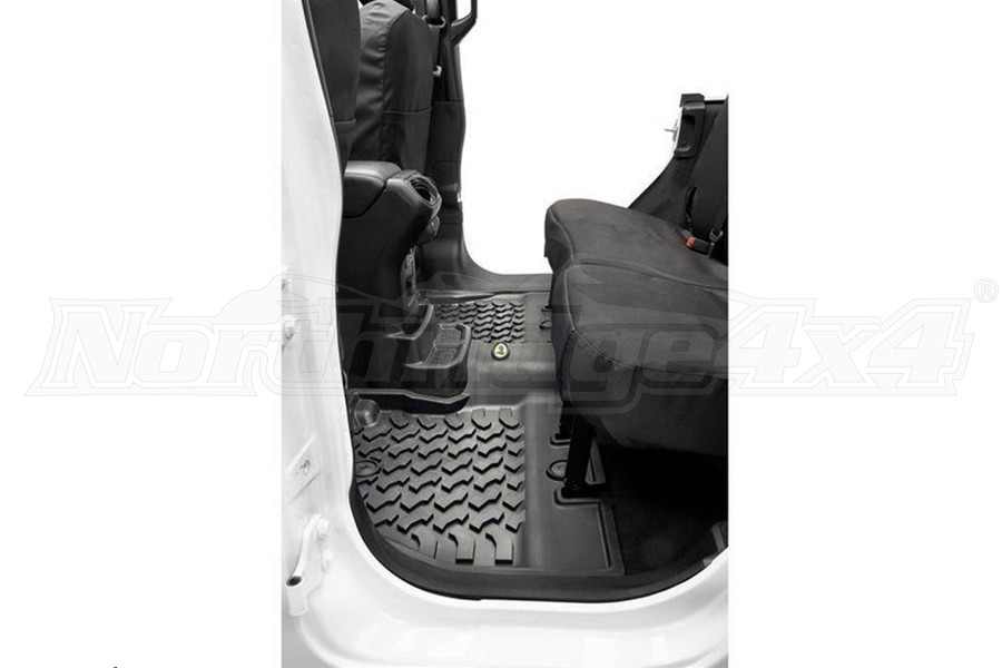 Bestop Rear Floor Mats, Black - JL 2Dr