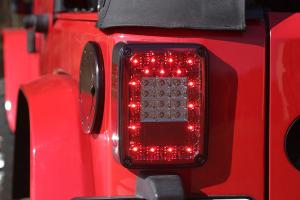 Rugged Ridge LED Tail Light Set, Smoke - JK
