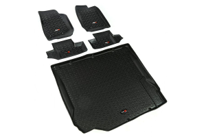 Rugged Ridge Floor Liner Kit, Black - JK 2DR