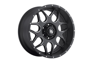 Pro Comp LRG Rims LRG104 Splits Series Satin Black 20x9 5x5 (Part Number: )