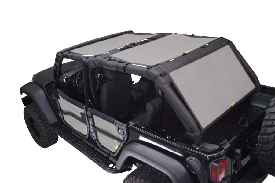 Dirty Dog 4x4 Sun Screen Front and Back Seats Grey - JK 4dr
