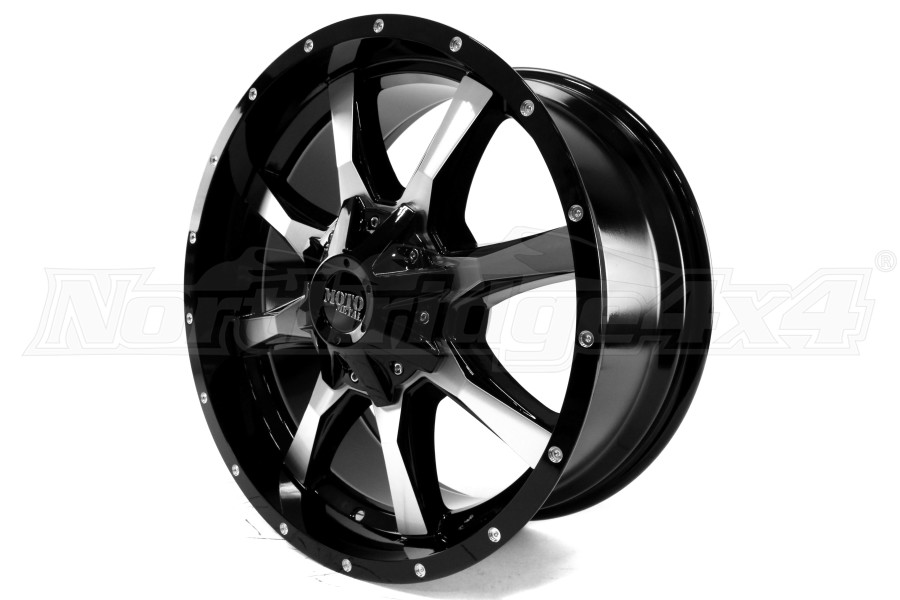 Moto Metal Wheels MO970 20x9 Gloss Black w Milled Accents 20x9 8x170 (Part Number:MO97029087318)