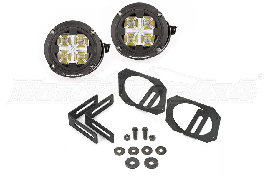 Rugged Ridge LED Light and Mount Kit (Part Number:11232.17)