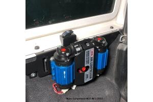 M.O.R.E. ARB Dual Compressor Mount - Black - JL 2Dr