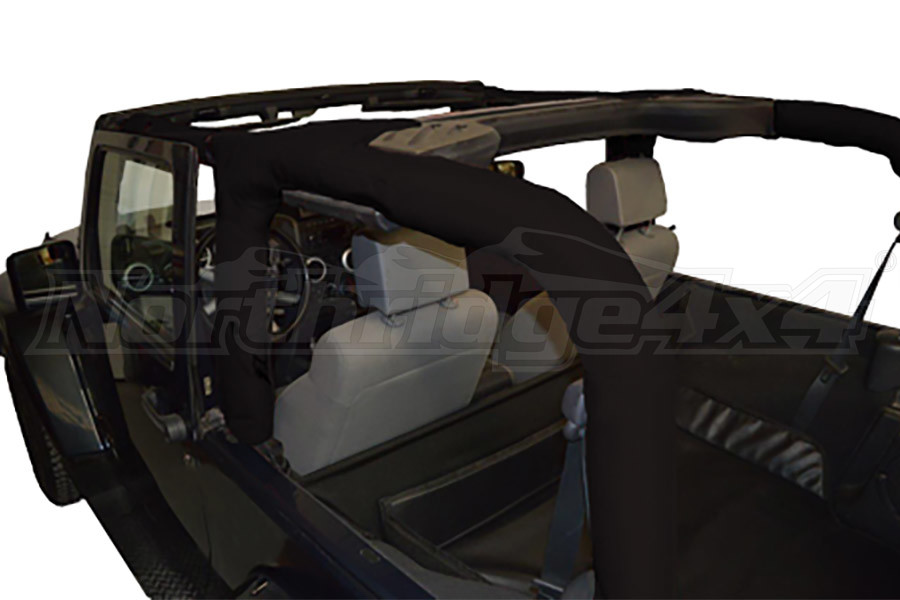 Dirty Dog 4x4 Roll Bar Covers Black - JK 2dr