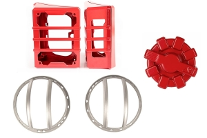 Rugged Ridge Light Guards w/  Elite Red Fuel Cap (Part Number: )