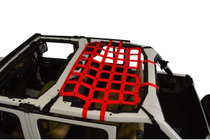 Dirty Dog 4x4 Rear Seat Netting, Red - JL 4Dr