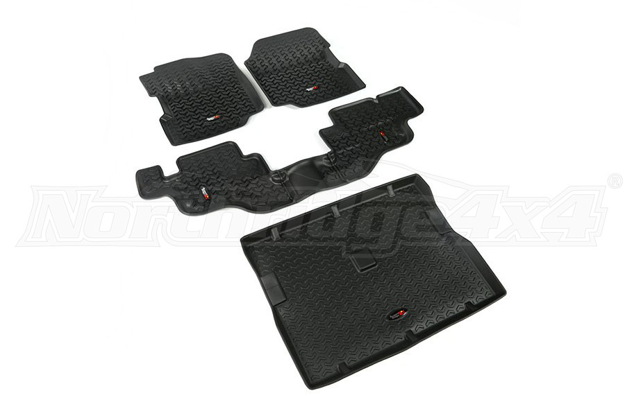 Rugged Ridge Floor Liner Kit, Black (Part Number:12988.09)