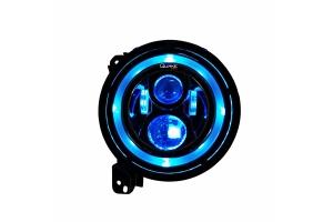 Quake LED 9in Headlights w/DRL Halo & RGB