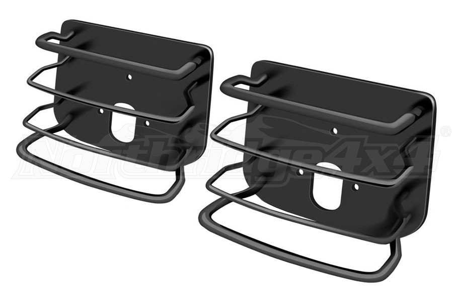 Smittybilt Rear Euro Style Tail Light Guards Black - TJ/LJ/YJ