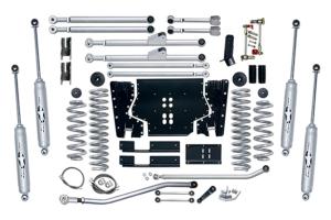 Rubicon Express 4.5in Extreme Duty Long Arm Lift Kit w/Twin Tube Shocks - TJ 2003-06