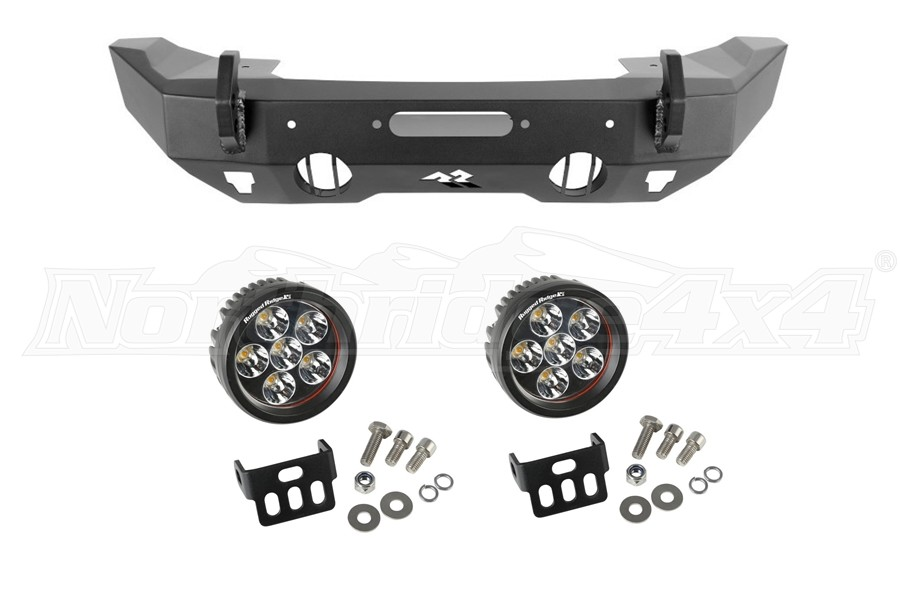 Rugged Ridge Front Stubby HD Bumper w/LED Lights Package - JT/JL/JK
