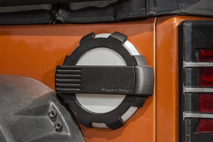 Rugged Ridge Elite Fuel Door, Non-Lock, Brushed Alum. (Part Number: )